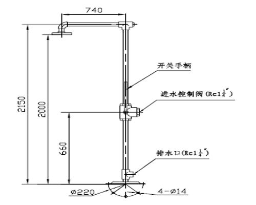 XYQ-FⅢ型手动防冻喷淋器