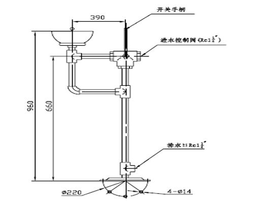 XYQ-FⅣ型手动防冻洗眼器