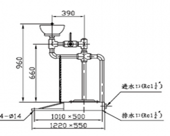 XYQ-FⅡ型脚踏防冻洗眼器
